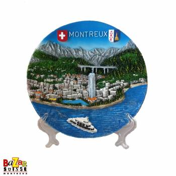 Decorative plate Montreux resin 19cm