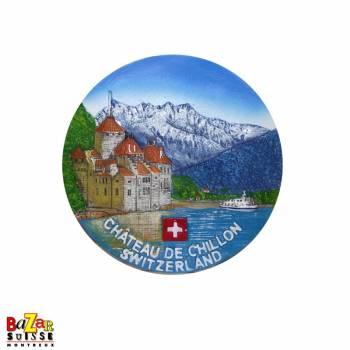 Assiette décorative 10cm - vues suisse