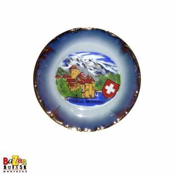 Assiette décorative 10cm - château de Chillon