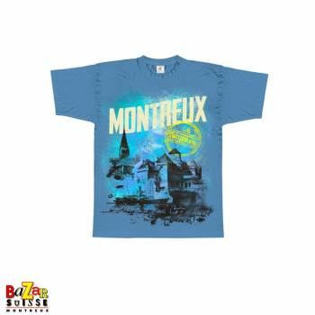 T-shirt Montreux - Switzerland - Bleu