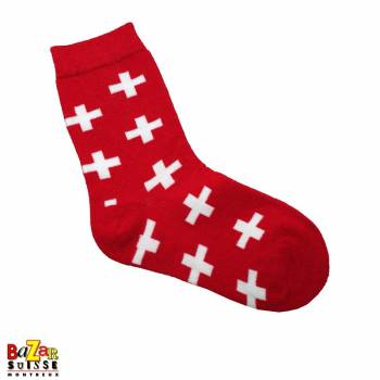 Swiss cross socks