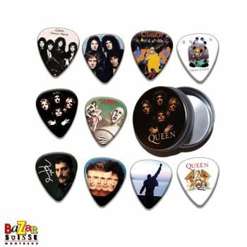 Set de 10 plectres de guitare Queen
