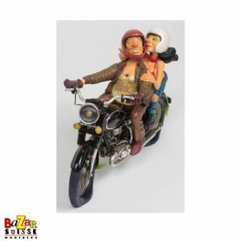 Excitant tour en moto - figurine Forchino