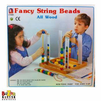 Fancy String Beads - wooden game for children