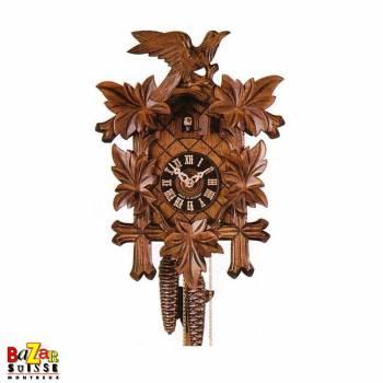 Cuckoo-clock - 3 leaves brown