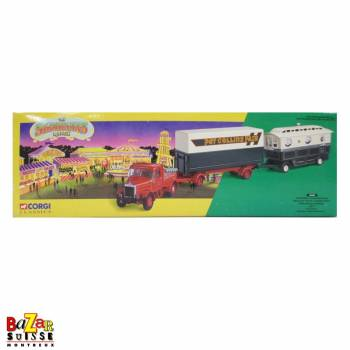 Pat Collins - Scammell Highwayman ballast with closed pole trailer & caravan set - Corgi
