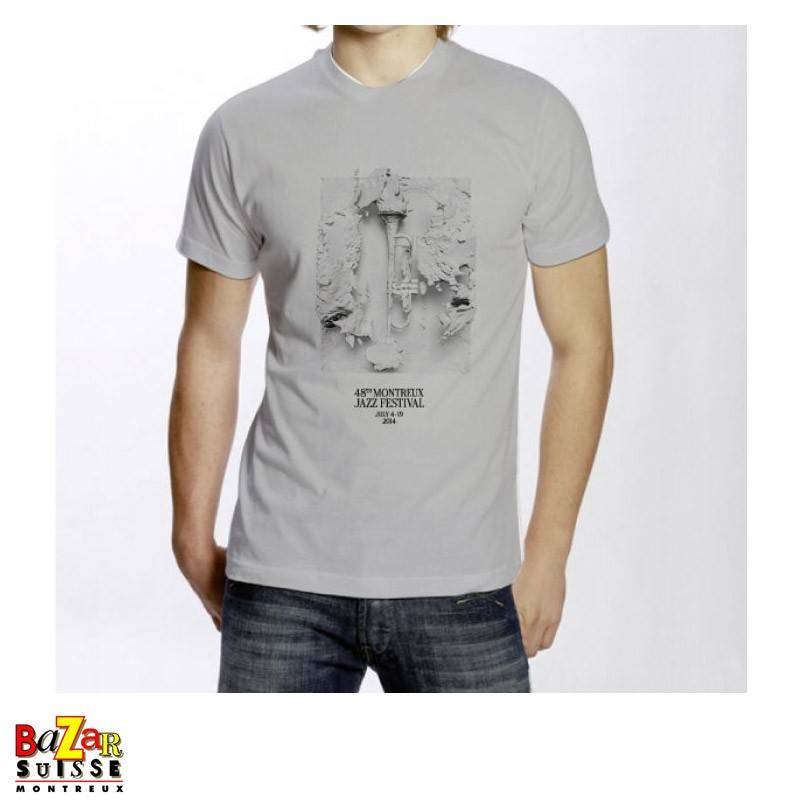 Official 2014 Montreux Jazz Festival T-shirt - grey