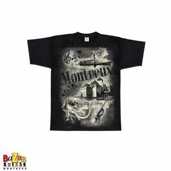 T-shirt Montreux - Switzerland - Blanc