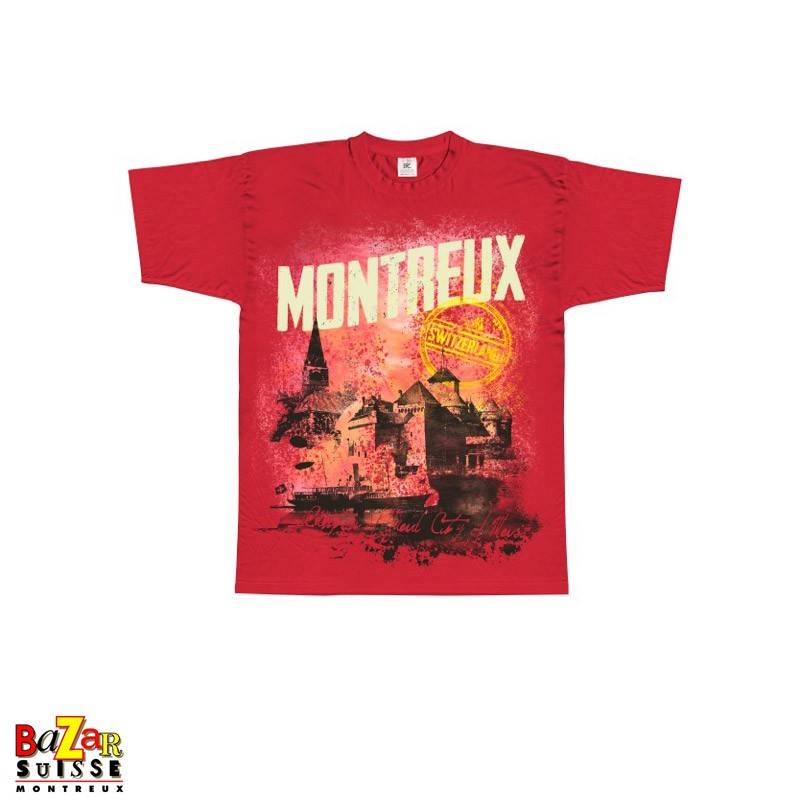T-shirt Montreux - Switzerland - Blue