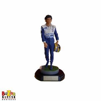 Figurine Ayrton Senna pilote F1 - Camel Honda