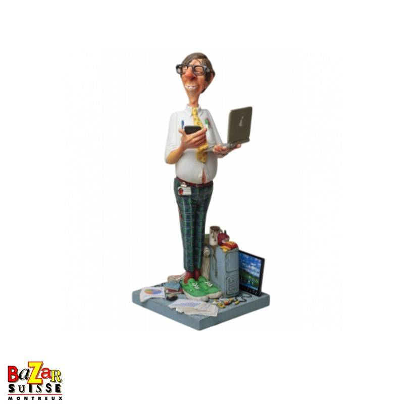 Forchino figurine - The computer expert