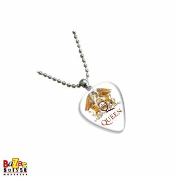 Guitar Pick necklace with Queen logo