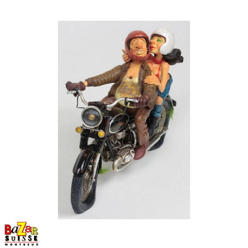 Exciting motor ride - Forchino figurine