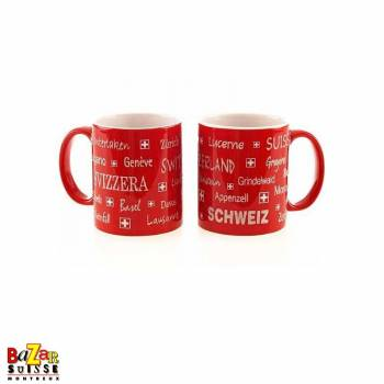 Swiss city mug - red