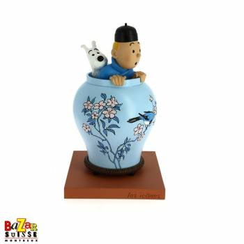 Blue Lotus vase figurine