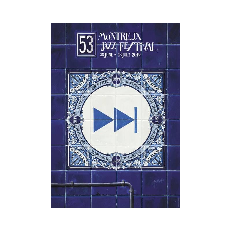 Poster Montreux Jazz festival 2019 - blue