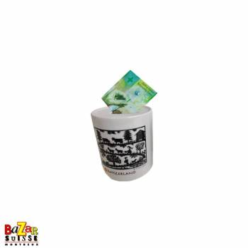 Money bank white, paper-cutting