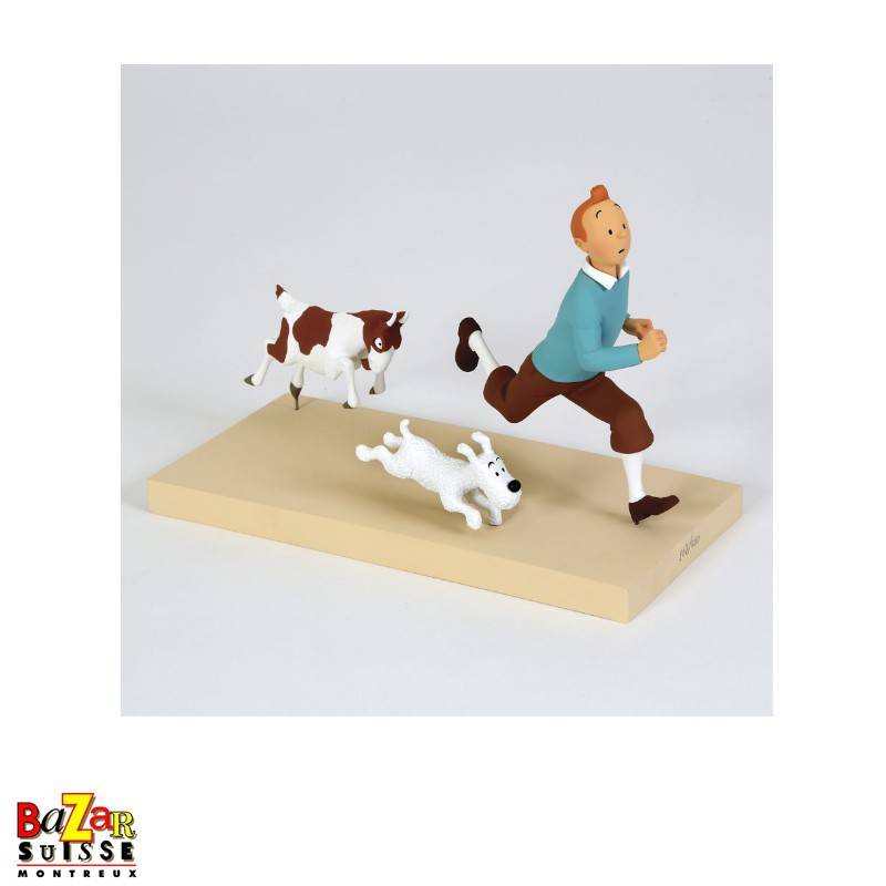 Tintin and the goat figurine