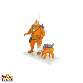 Tintin and Snowy Moon Figurine