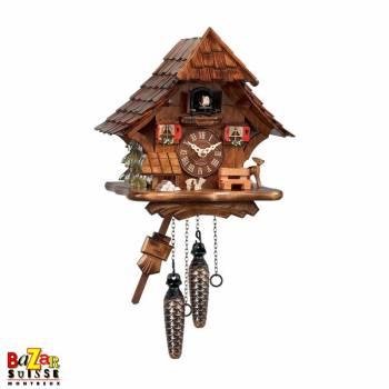Quartz cuckoo-clock - fawn/pine tree