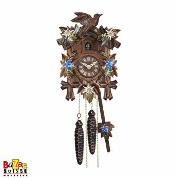 Quartz Cuckoo-clock - Painted flowers