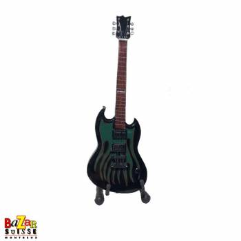 James Hetfield / Metallica - Mini-guitare en bois