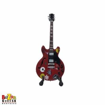 Alvin Lee - wooden mini-guitar