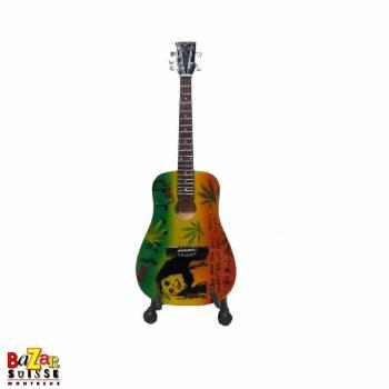 Bob Marley - Mini-guitare en bois