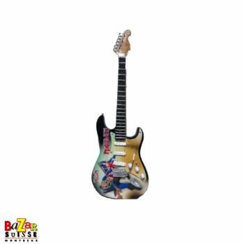 Iron Maiden - Mini-guitare en bois