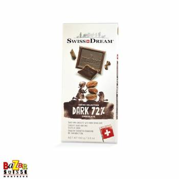 Swiss Dream chocolat suisse - noir 72%