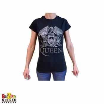 Woman T-shirt Queen Crest strass