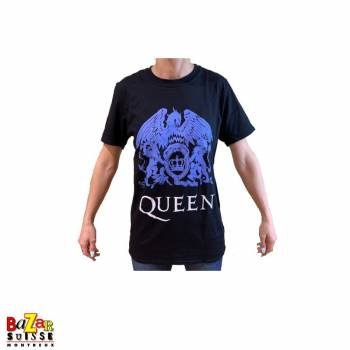T-shirt Queen Crest bleu