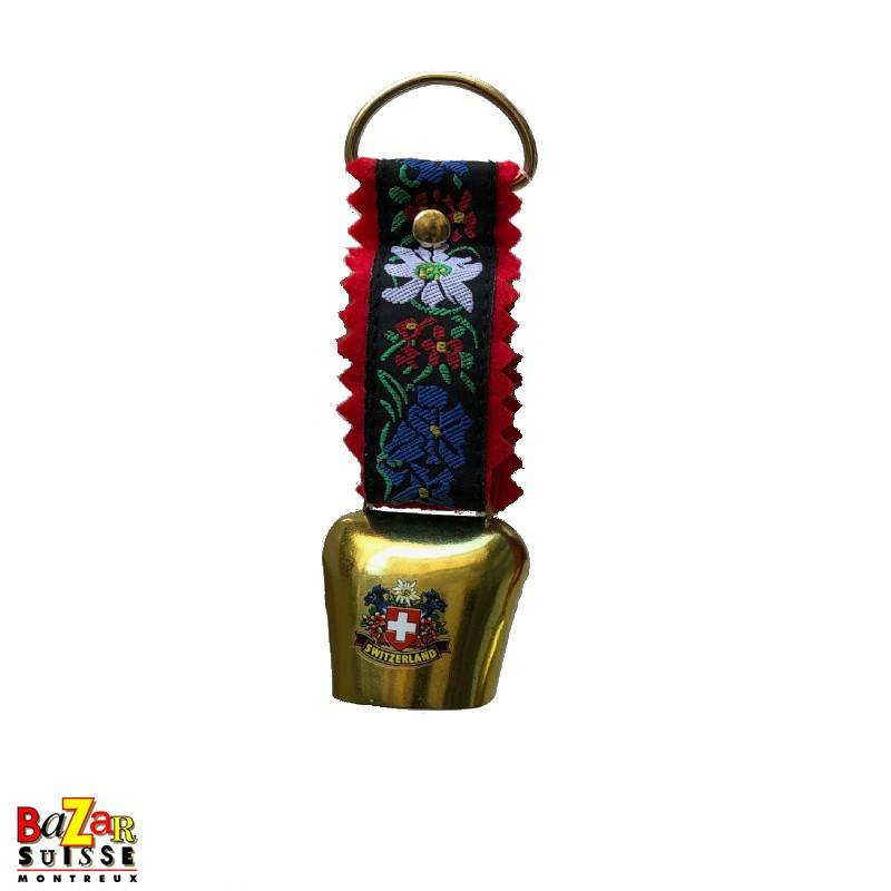 Bell with flowers and tissue strap