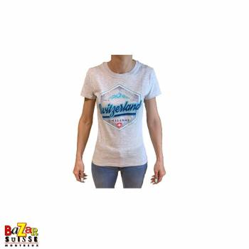 T-shirt Woman Switzerland original grey