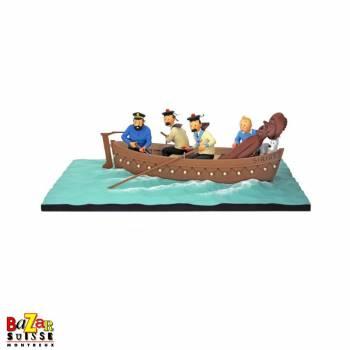 Tintin in the Sirius boat figurine