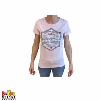 T-shirt Woman Switzerland original pink