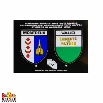 Montreux and canton of Vaud badges stickers
