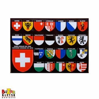 Autocollants écussons cantons suisse