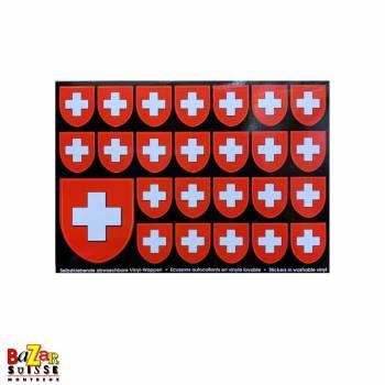Autocollants écussons Suisse