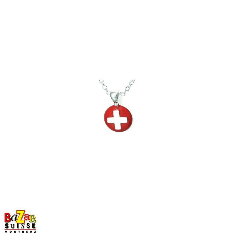 Swiss cross pendant