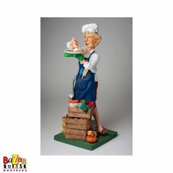 Chef cuisinière - figurine Forchino