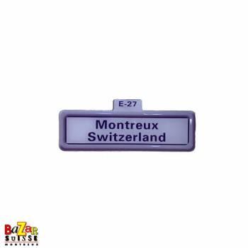 Aimant décoratif panneau routier - Montreux Switzerland