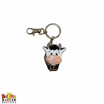 Porte-clés coupe-ongles vache