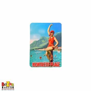 Decorative fridge magnet - Montreux plage