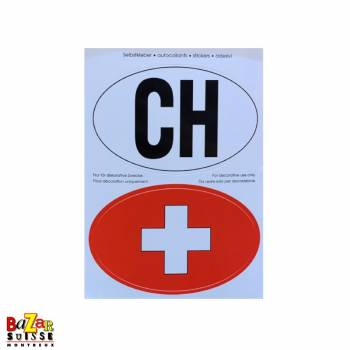 CH sticker and Swiss cross