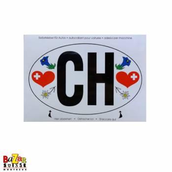 Autocollant CH pour voiture