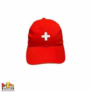 Casquette rouge croix Suisse