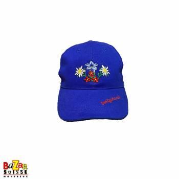 Flowers blue cap