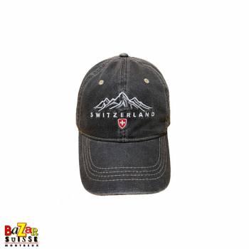 Switzerland black jeans cap