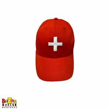 Swiss cross red cap